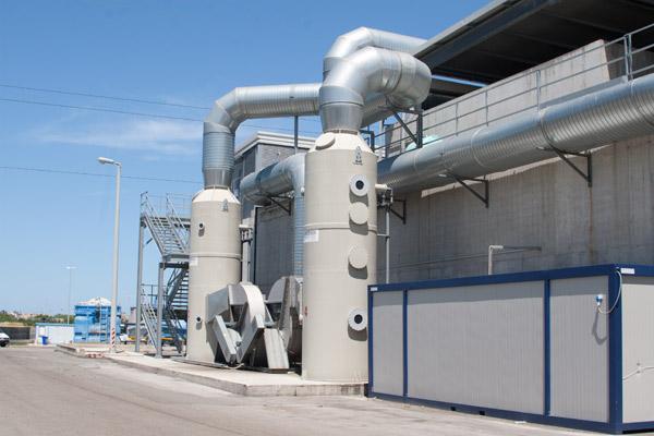Immagine dell'esterno dell'impianto di biostabilizzazione